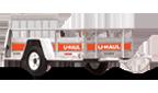 5' x 9' U-Haul Trailer with ramp